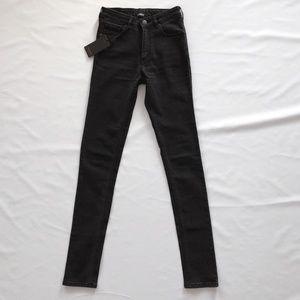 NWT Courtshop Black High Waist Skinny Jeans, 26